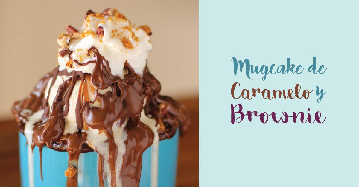 Mugcake de caramelo y brownie