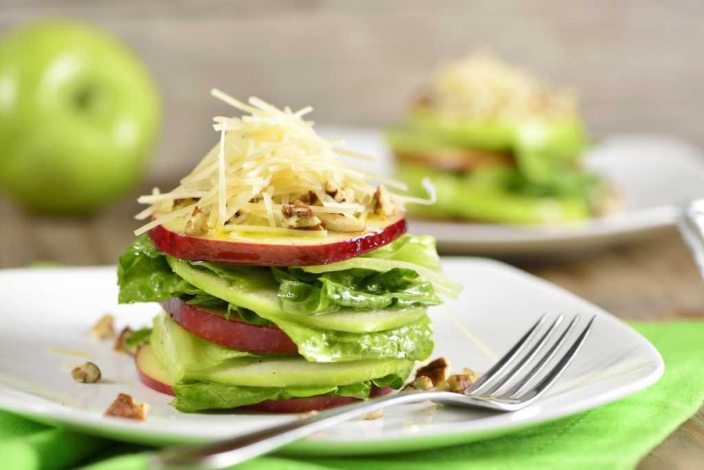 ensaladas con fruta-manzana