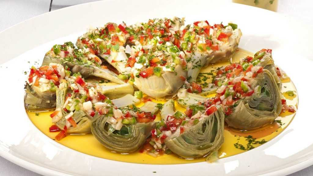 navidad vegetariana alcachofas