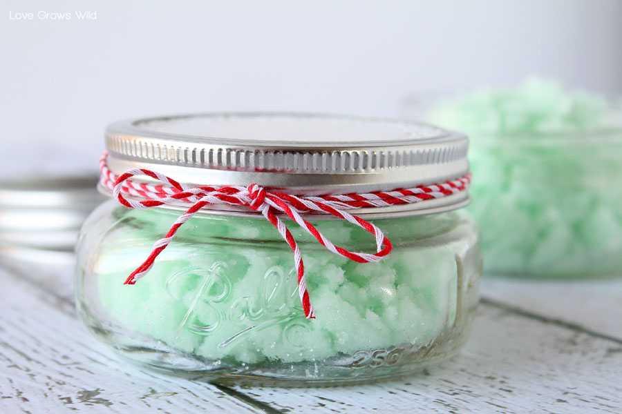 regalos hechos en casa exfoliante de menta