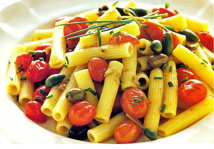 navidad vegetariana pasta-aceitunas