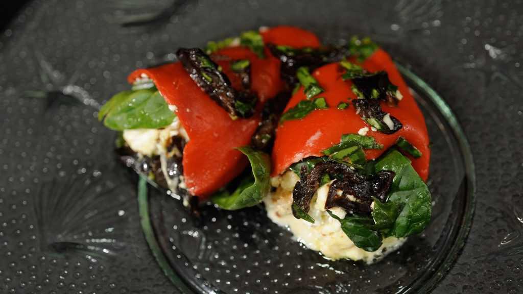 navidad vegetariana piquillos