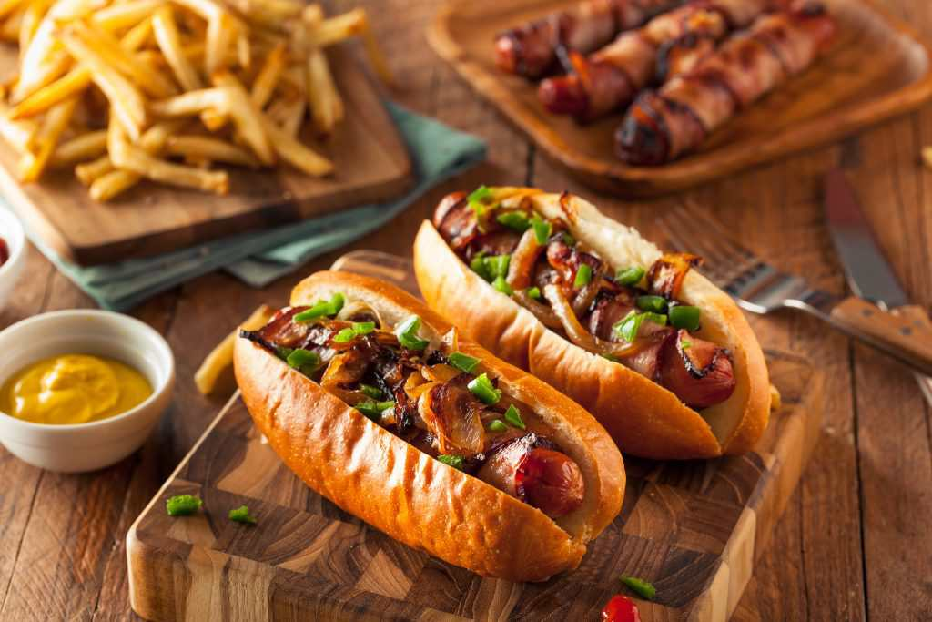 super bowl munchies hot dog