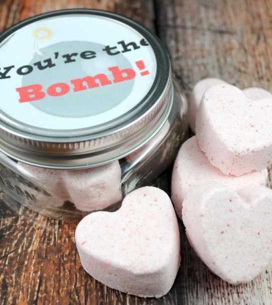 regalos caseros para san valentin Bath-Bombs