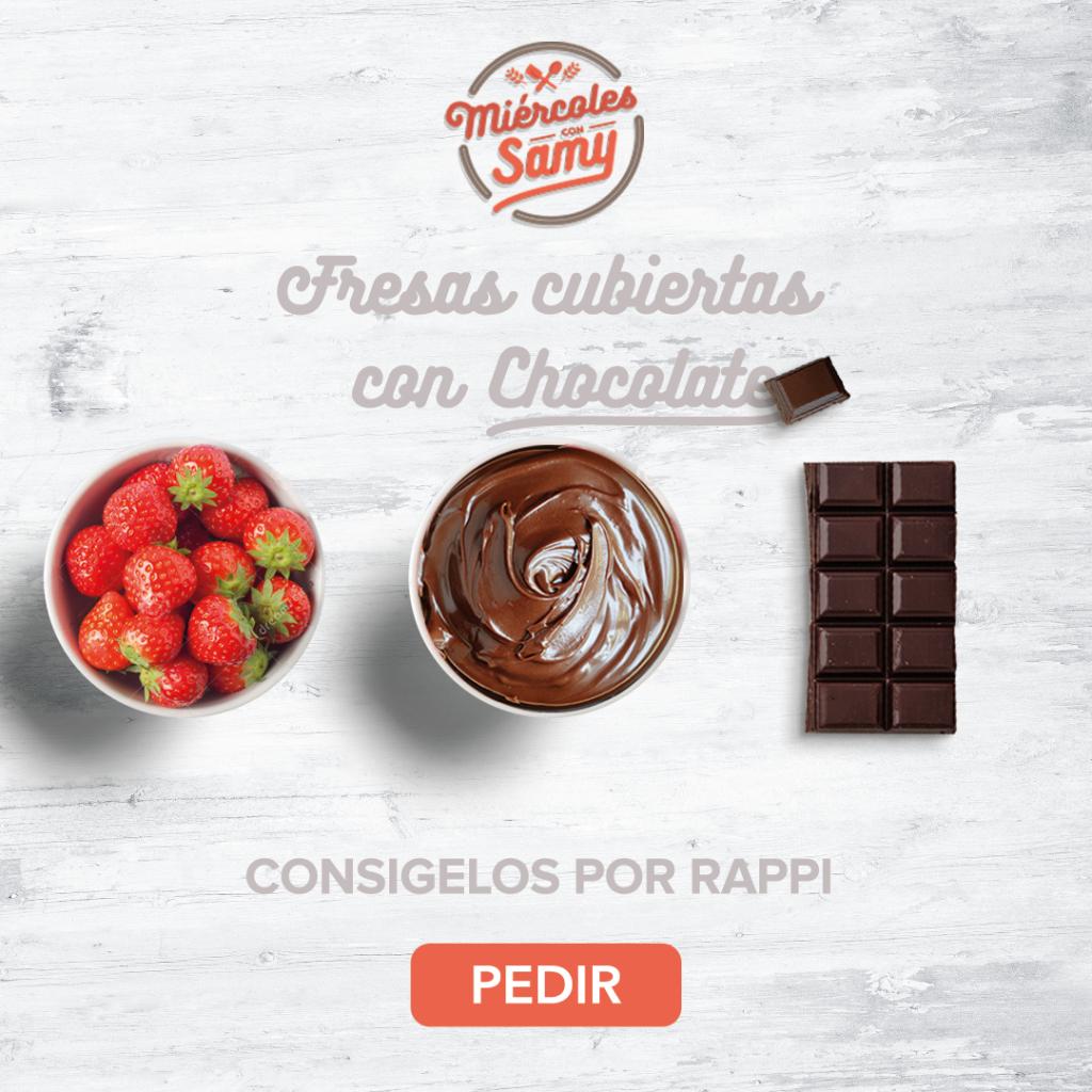 Fresas cubiertas con chocolate ingredientes